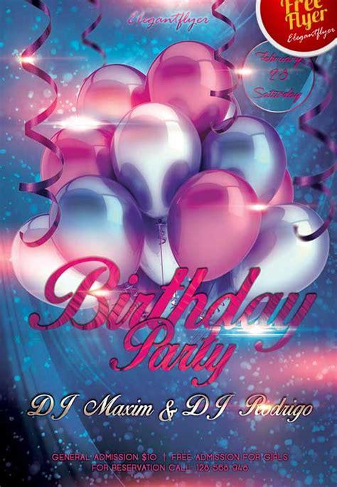 freepsdflyer   birthday party club flyer psd