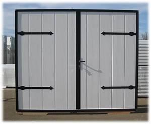 portes de service isolees 40 mm axone spadone With porte de garage enroulable et porte deux vantaux interieur