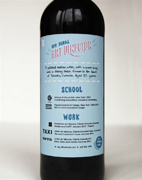 Bottle Resume by These 11 Insanely Creative Food Resumes Are Why You Don T A