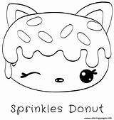 Donut Coloriage Coloring Dessin Sprinkles Donuts Printable Colorier Noms Num Jecolorie sketch template