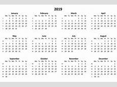 Calendario 2019 Horario · Imagen gratis en Pixabay