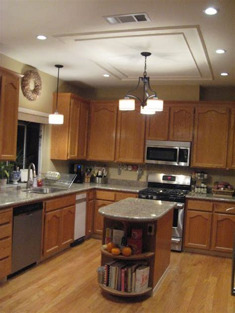 How to update old kitchen lights recessedlighting com. The Money Pit: How to Shave 30 Years Off Your Kitchen by removing flourescent light   Kitchen ...