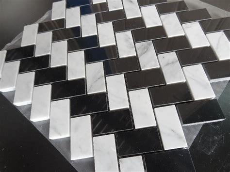 black and white herringbone tile black and white herringbone tile 28 images preview full mosaic tile massiv metal titanium