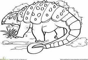 Color The Dinosaur Ankylosaurus Crafts Pinterest