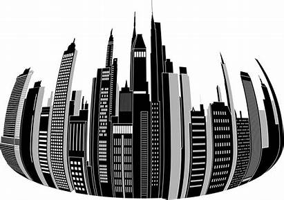 Skyline Clipart Distorted Transparent Boston Drawing Circle