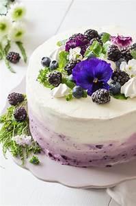 Ringelblumen Creme Selber Machen : ombre torte mit heidelbeeren rezept mit bild von baking barbarine ~ Frokenaadalensverden.com Haus und Dekorationen
