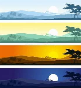 Anzahl Tage Berechnen Zwischen Zwei Daten : tropische berglandschaften in verschiedene tageszeiten vektor abbildung illustration von ~ Themetempest.com Abrechnung