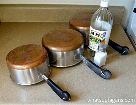 clean copper pots  easy natural   vinegar  salt