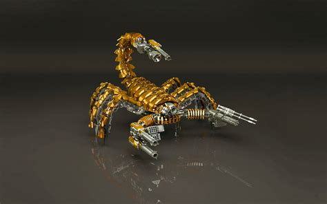 Download Wallpapers, Download 320x480 Robots Scorpion Gold