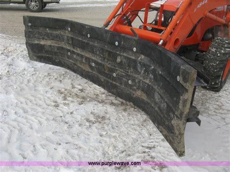 shop built  rubber blade snow plow  hesston ks item  sold purple wave