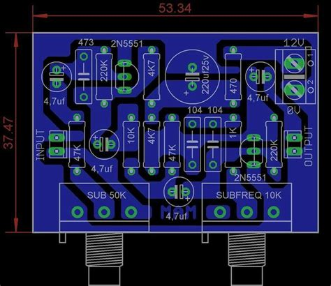 Pcb Subwoofer Frequency Adjust Audiophile Hifi
