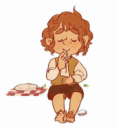 Bilbo Baggins Eating