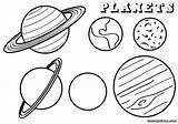 Coloring Planet Pages Planets Space Sheet Different sketch template