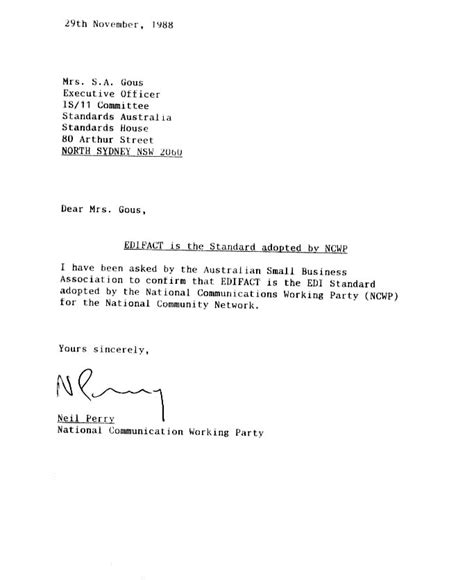 business letter format  faithfully sample business