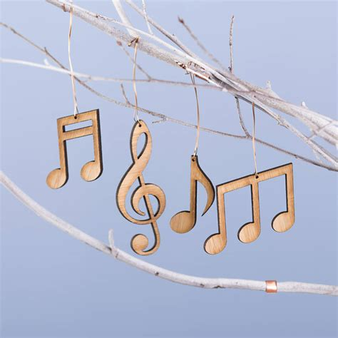 set   bamboo musical note christmas decorations