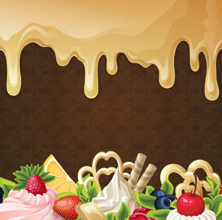 chocolate  dessert sweets vector background