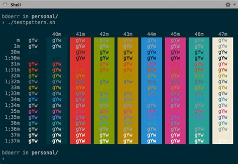 bash color scheme smpte color bars exle