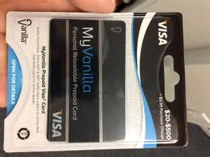 My Vanilla Prepaid Debit Card