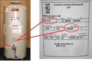 A.O. Smith. Reliance, Apollo, Maytag and State 75-gallon Propane Gas Water Heater Recalll