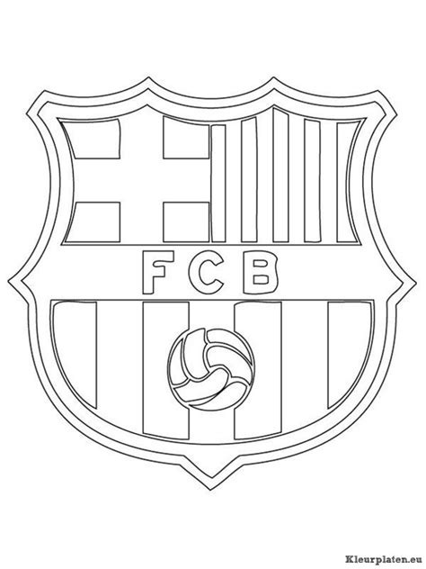 Fc Barcelona Kleurplaat fc barcelona kleurplaten kleurplaten eu