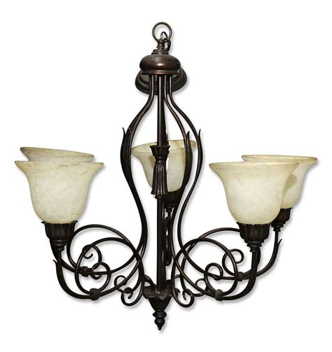 wrought iron chandeliers with shades five light vintage wrought iron chandelier with glass