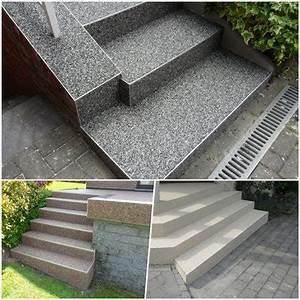 Treppenstufen Stein Außen Verlegen : steinteppich richtig verlegen fugenloser boden steinteppich ~ Orissabook.com Haus und Dekorationen