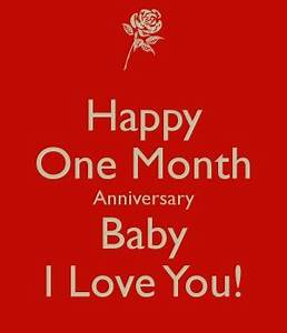 Image Gallery one month anniversary poems