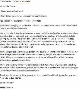 Cv Covering Letters Examples Technical Architect Cover Letter Example Icover Org Uk