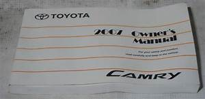 Toyota Camry 2007 Factory Original Oem Owner Manual User