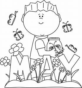 May flowers clip art black and white clipartfest - ClipartBarn