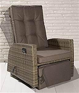 2x luxus polyrattan xl gartensessel mit verstellbarer With französischer balkon mit schaukelstuhl rattan garten