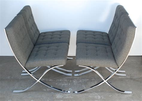 set of four 1970s chrome and charcoal grey dining chairs