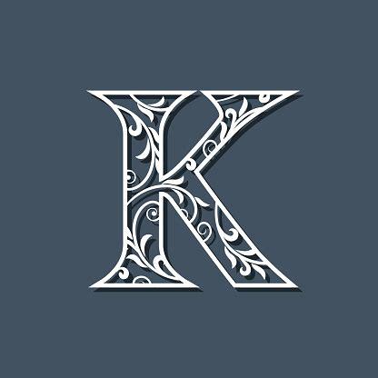 initial letter  floral monogram template filigree logo floral pattern elegant emblem decorative