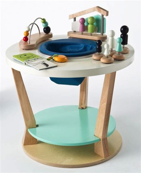 baby activity table wooden the bobbin from three pears