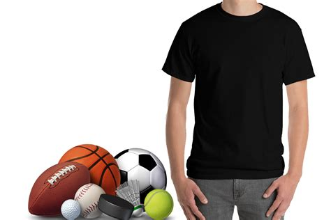 Set of colored shirt mockup in front view and back view for baseball, soccer, football , sportswear or casual wear. Free Mens Sports T Shirt Mockup - Mockups for Designers