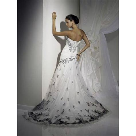 corset wedding dresses black and white for cheap inofashionstyle