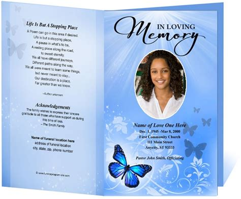Funeral Program Template Funeral Program Template Funeral Order Of Service All