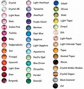 It Works Diamond Chart Ss20 Color Swarovski Flatback Rhinestone