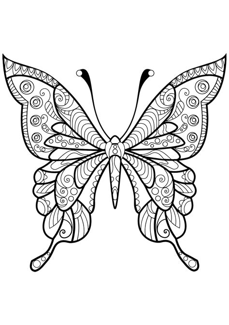 Butterfly Coloring Pages for Adults - Best Coloring Pages