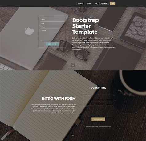 bootstrap starter template 33 awesome free html5 bootstrap templates 2018