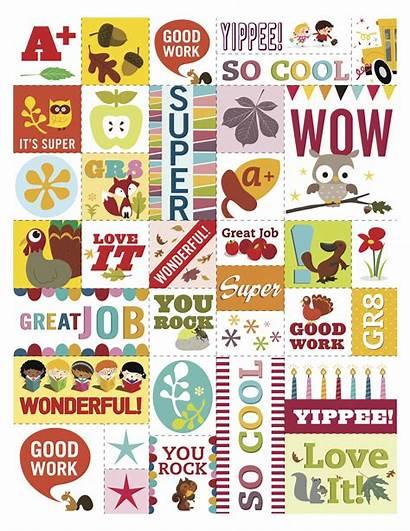Stickers Reward Fall Printable Teacher Classroom Planner