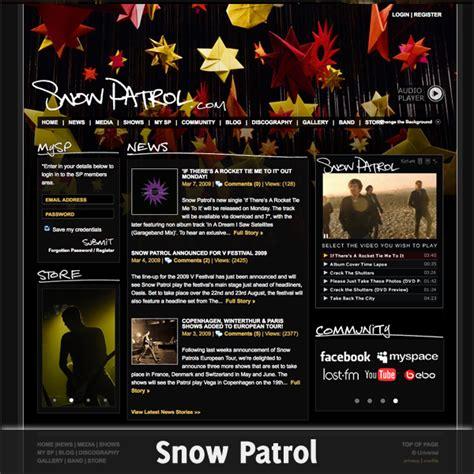 give   inspiring band website designs