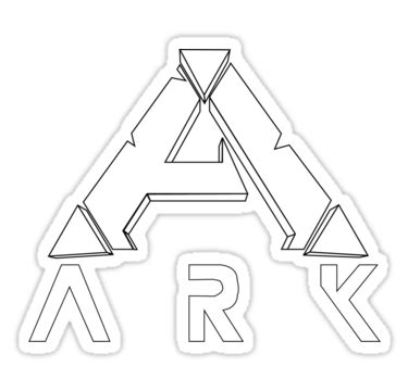 ark survival evolved minimalist white stickers