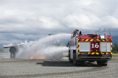 air protection specialists conduct wartime firefighting readiness at jber
