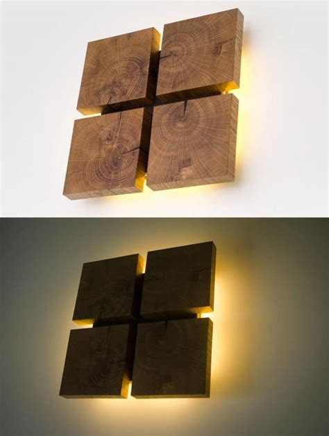 light wood wall art square wooden oak sconce id lights