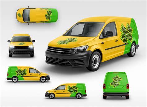 panel van vehicle branding mockup psd good mockups
