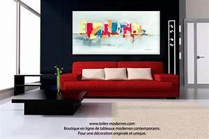 Tableau Design Salon : tableau decoration salon maison design ~ Teatrodelosmanantiales.com Idées de Décoration
