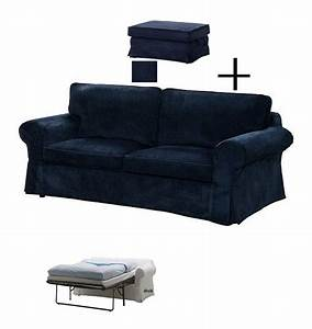 ikea ektorp slipcovers for sofa bed and footstool vellinge With dark blue sofa bed