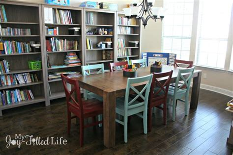 large family homeschool room tour my filled