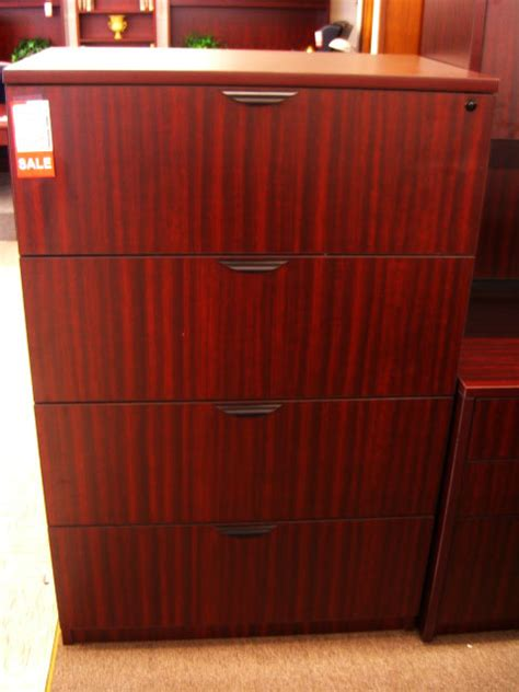 mahogany  drawer lateral file ofco office furniture